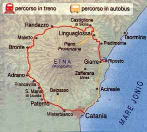 2258327b2b6e4 The Circumetnea Railway. The realization of the railway that, going around  mount Etna, was connecting Bronte with Catania and Giarre, was for the town  an ...